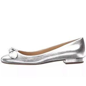 Michael Kors Liza ballets flats silver 10 M
